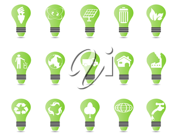Royalty Free Clipart Image of a Light Bulb Icons