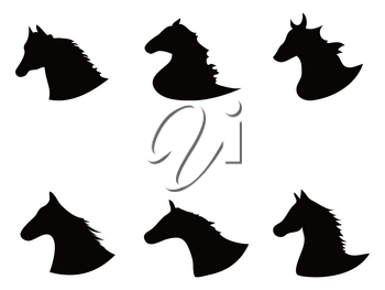 isolated horse head Silhouette icon from white background