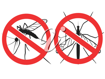 isolated anti Mosquitoes sign,vector from white background