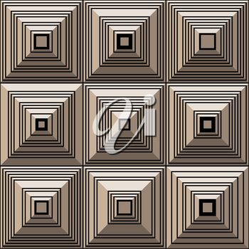 Royalty Free Clipart Image of a Background of Squares