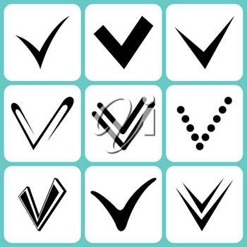 Royalty Free Clipart Image of Check Marks