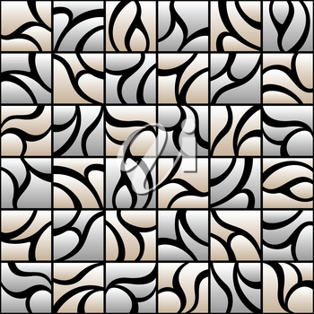 Royalty Free Clipart Image of a Square Pattern Background