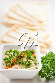 Royalty Free Photo of Moutabal Baba Ghanoush Eggplant Dip