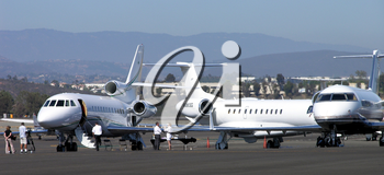 Royalty Free Photo of Private Jets