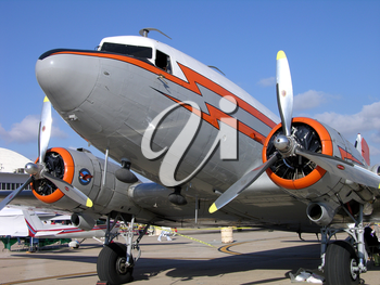 Royalty Free Photo of an Old Airplane