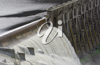 Royalty Free Photo of an Overflowing Dam