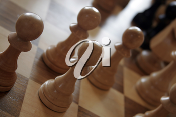 Royalty Free Photo of a Game of Chess