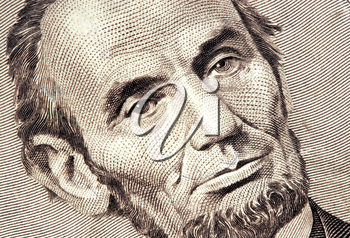 Royalty Free Photo of Abraham Lincoln on a Five Dolllar Bill