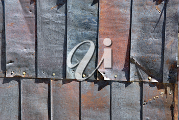 Royalty Free Photo of Tin Siding on Buildings at Bodie, California