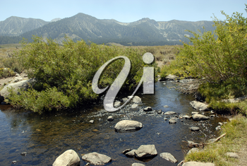 Royalty Free Photo of Streams in the High Sierras