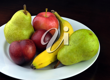 Royalty Free Photo of a Plate of Fruit