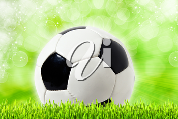 Football abstract backgrounds with unfocused bokeh