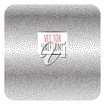 Halftone Background. Dotwork Abstract Vector illustration Vintage style