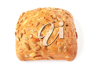 Royalty Free Photo of a Bun With Sunflower Seeds