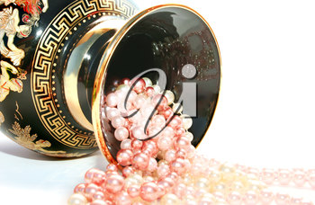 Royalty Free Photo of Beads in a Vase