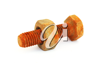 Royalty Free Photo of a Rusty Bolt