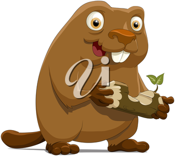 Royalty Free Clipart Image of a Beaver