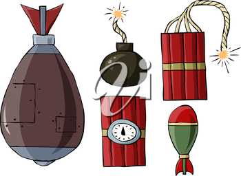 Royalty Free Clipart Image of a Set of Explosives