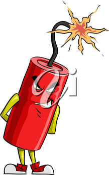 Royalty Free Clipart Image of a Dynamite