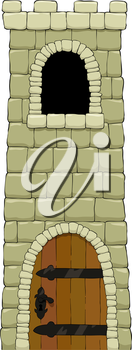 The tower on a white background vector