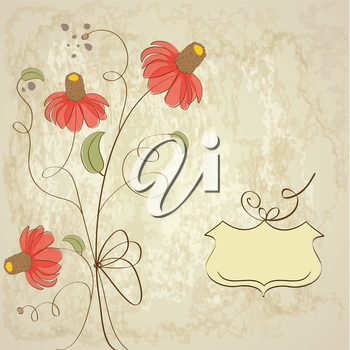 Royalty Free Clipart Image of a Flower Background With Text Space