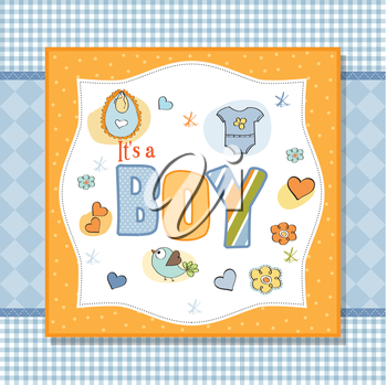 Royalty Free Clipart Image of a Baby Announcement