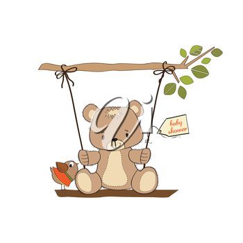 Royalty Free Clipart Image of a Baby Shower Invitation