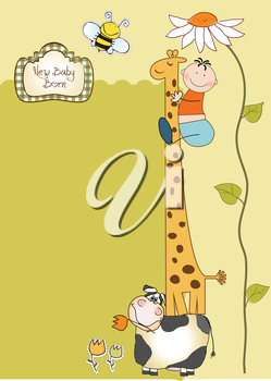 Royalty Free Clipart Image of a Birth Announcement