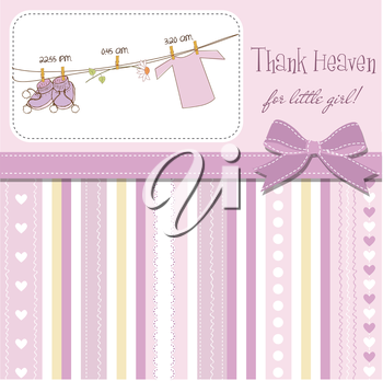 baby girl shower announcement card