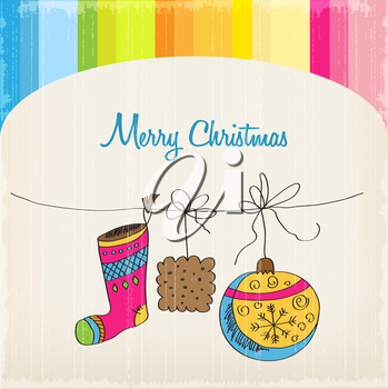 Christmas card, illustration in vector format