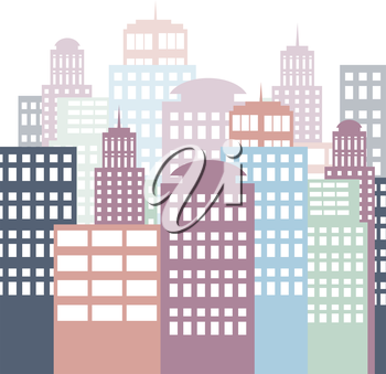 city architecture, vector eps10