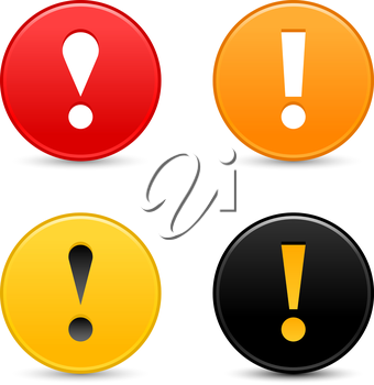 Royalty Free Clipart Image of Round Exclamation Signs