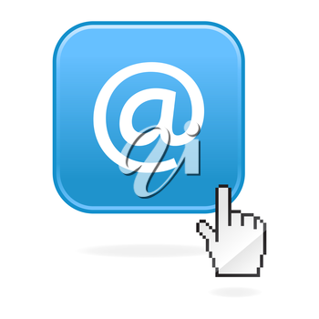 Royalty Free Clipart Image of an Email Icon and Cursor
