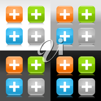 Royalty Free Clipart Image of Cross Signs