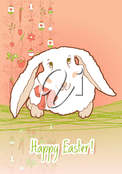 Greeting card for congratulations on the occasion of Easter