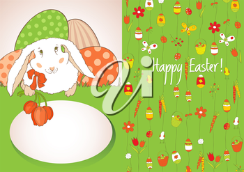 Postcard greetings for Easter. Vector design element