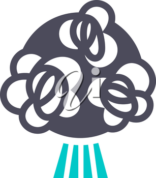 Bouquet flowers, gray turquoise icon on a white background