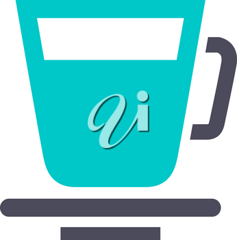 Cup, gray turquoise icon on a white background