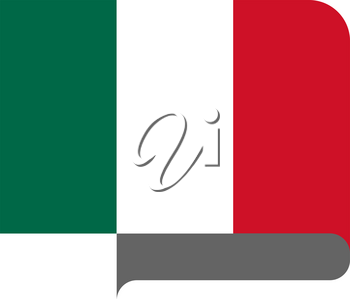 Flag of Mexico horizontal shape, pointer for world map