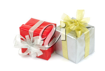 gift box with ribbon on white background
