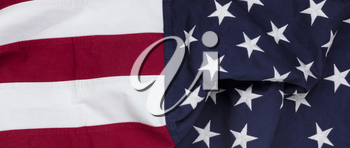 Close up of a Waving United States Flag background for independence