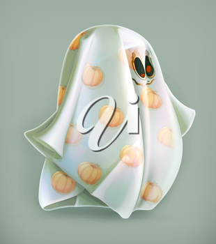 Cheerful ghost, vector icon