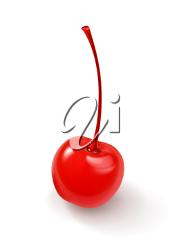 Sweet cherry for cocktails vector icon