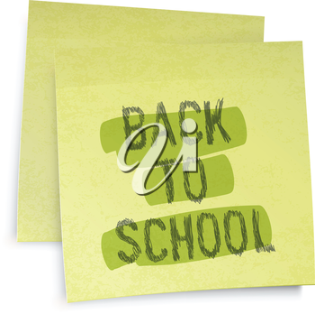 Back to school reminder. Vector illustration, EPS10