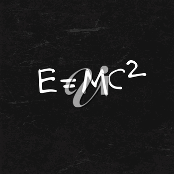 E=mc2 Formula on BlackBoard Texture
