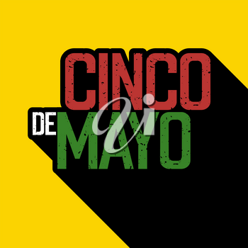 Cinco de Mayo postcard. Typography design. Vector illustration
