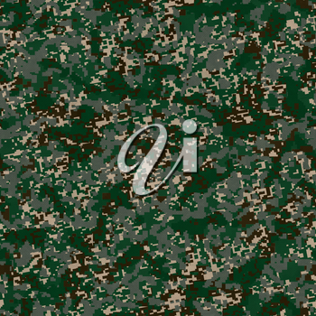 Army Digital Camouflage Fabric. Seamless Tileable Texture.