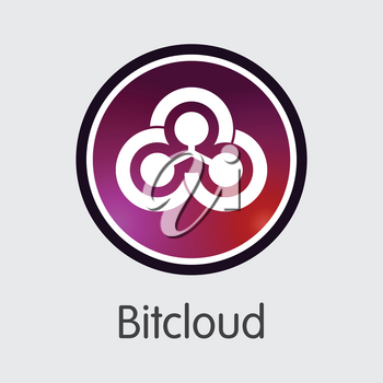 Bitcloud Vector Coin Illustration for Internet Money. Digital Currency Trading Sign of BTDX and Coin Symbol for using in Web Projects or Mobile Applications.