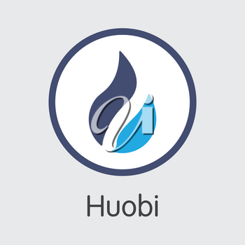 - Huobi. The Crypto Coins or Cryptocurrency Logo. Market Emblem, Coins ICOs and Tokens.