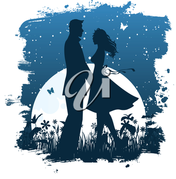 Vector illustration of love couple